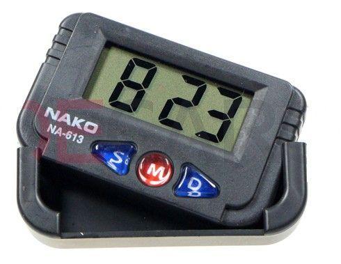 Zegarek Samochodowy Z Datą Duży Czytelny Lcd Czarn